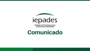 Comunicado postura de Iepades ante la remoción de Juan Francisco Sandoval como titular de la FECI